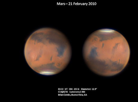 Brian Combs's latest on Mars!